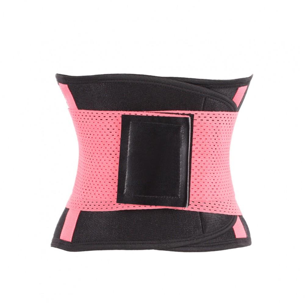 Pink Plastic Boned Slimming Waist Trimmer Belt Underwear