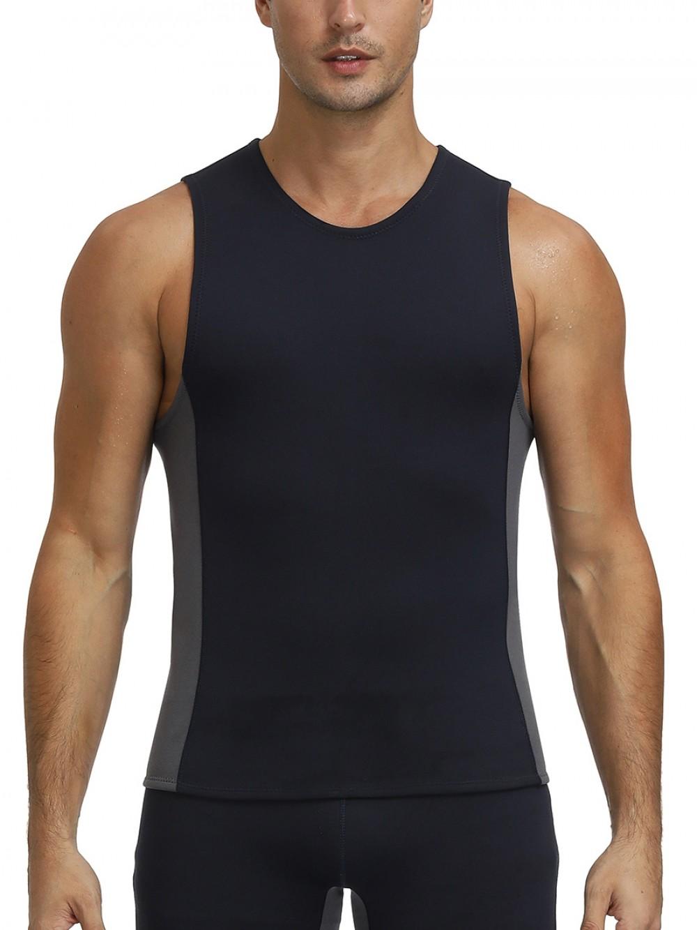 Black Neoprene Vest Shaper Large Size Round Neck For Training