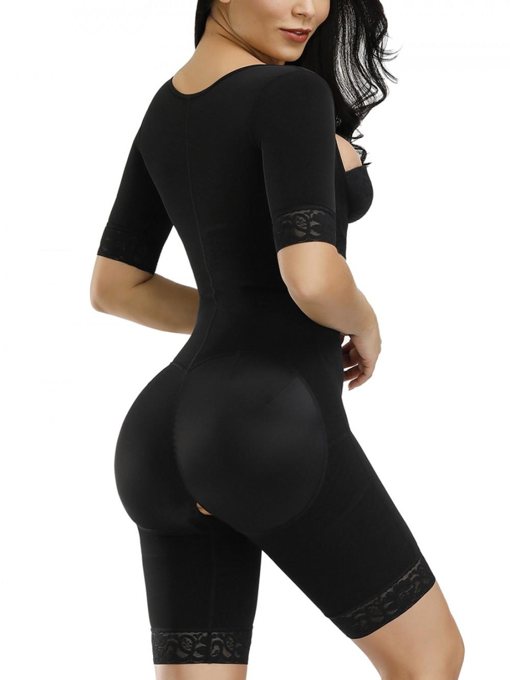 Black Butt Lifting Hooks Straps Full Body Shaper For Training