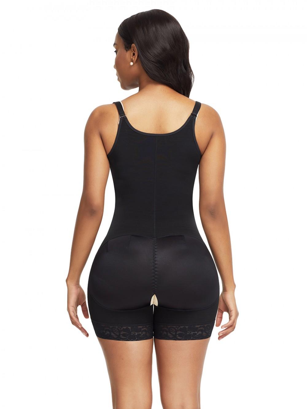 Figure Compression Black Adjustable Straps Underbust Body Shaper