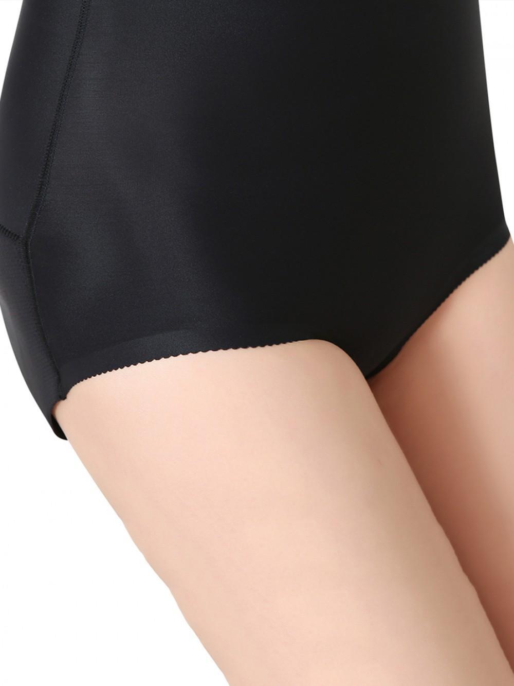 Black High Waist Buttock Enhancer Panty