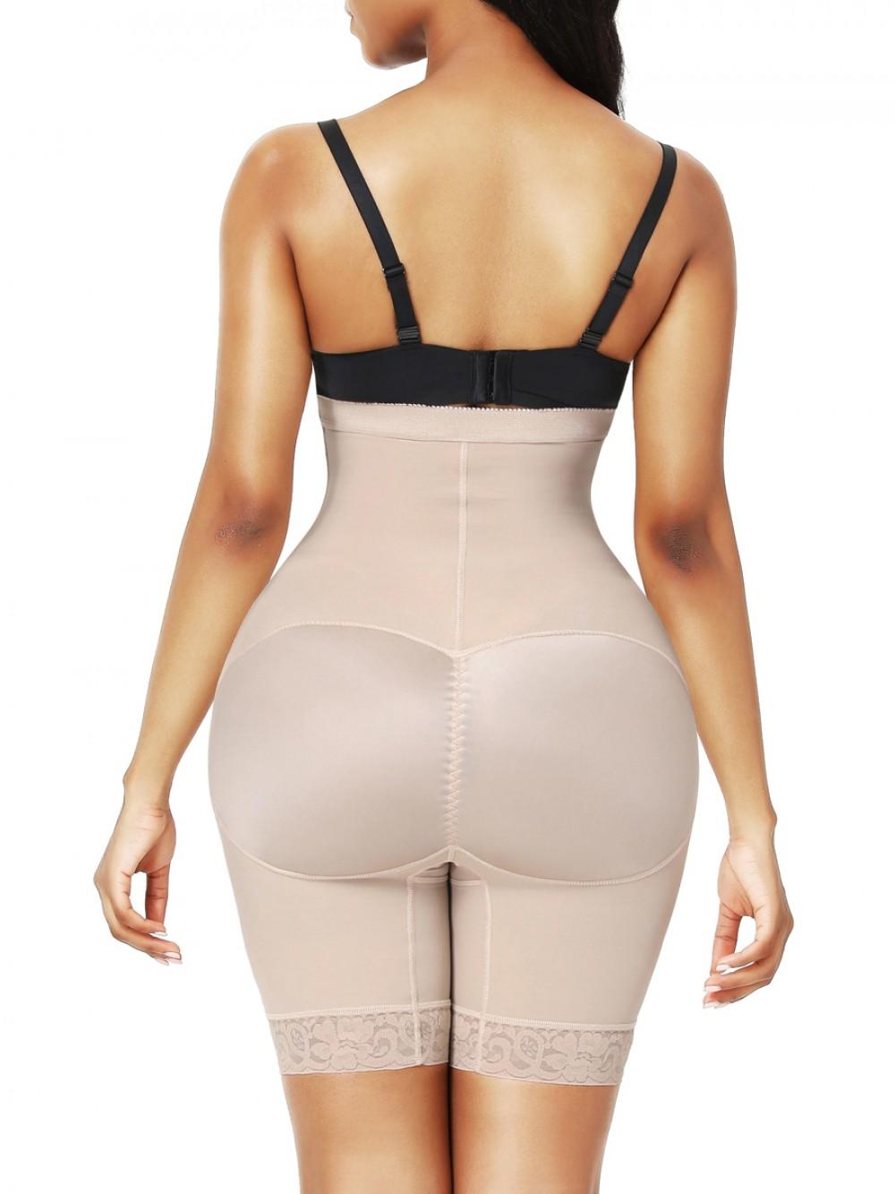 Skin Color High Waist 3 Rows Hooks Butt Lifter Abdominal Slimmer