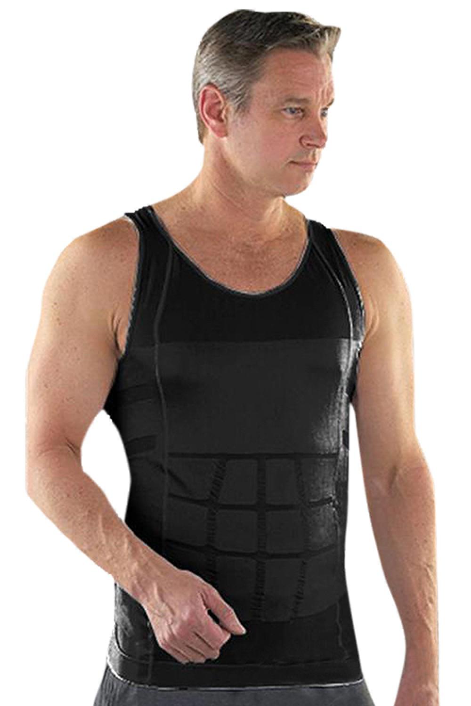 Solid Black Stretchable Breathable Vest For Men