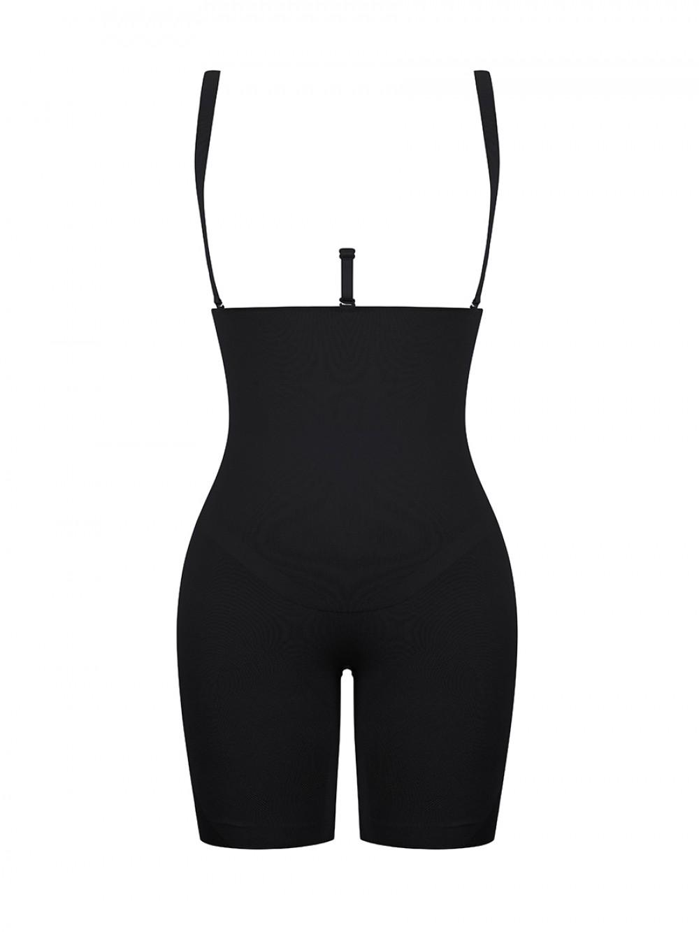 Black Queen Size Open Gusset Body Shaper Butt Lifting