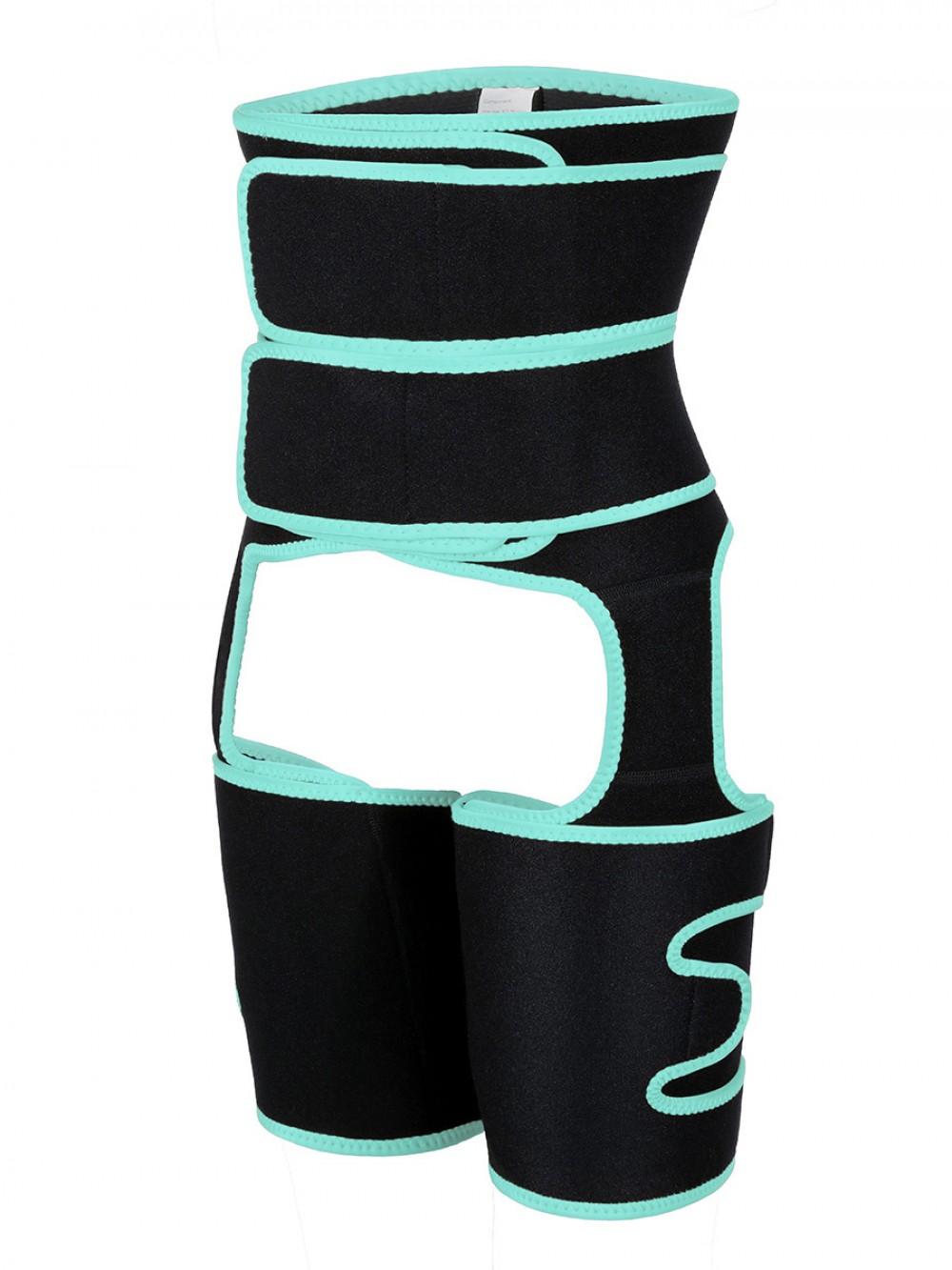 Custom Logo Light Green Neoprene High Waist Thigh Shaper Sticker