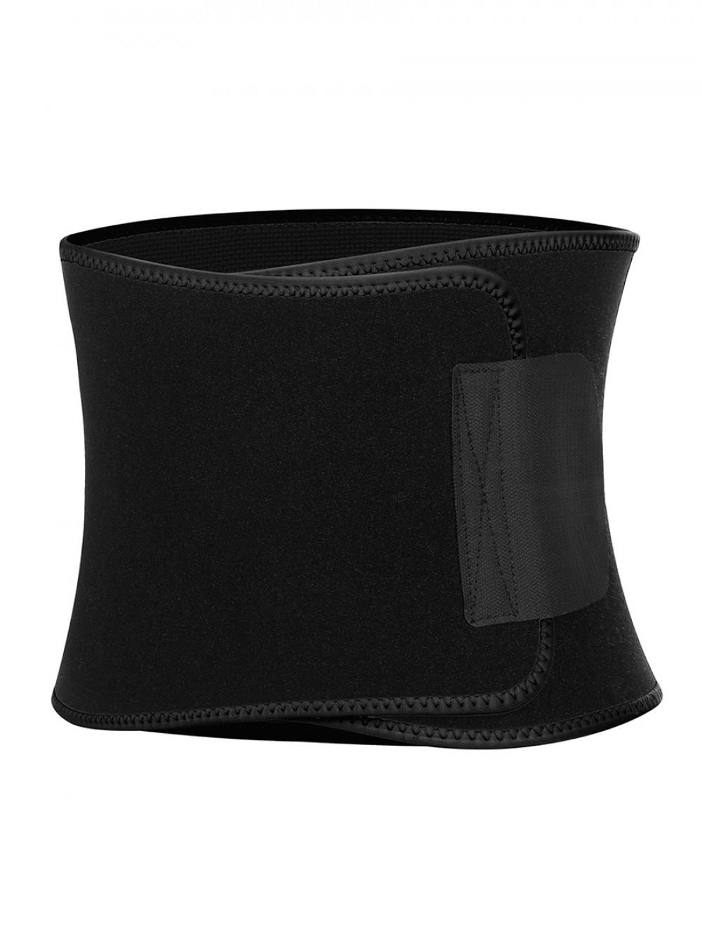 Waist Trainer Back Support Black Embossed Moisture-Wicking Custom Logo