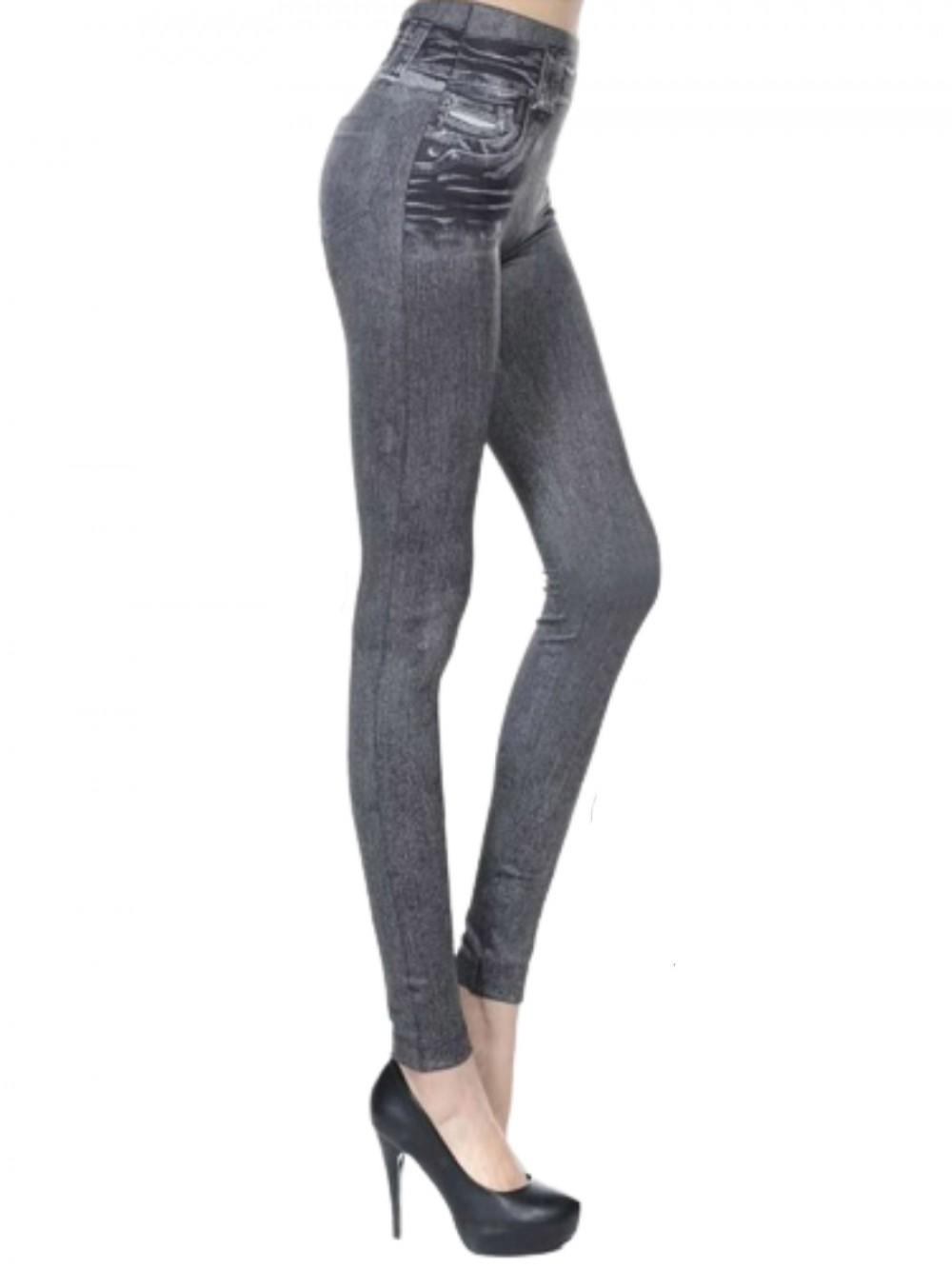 Gray Yoga Pants Button Design Big Size Women's Fashion