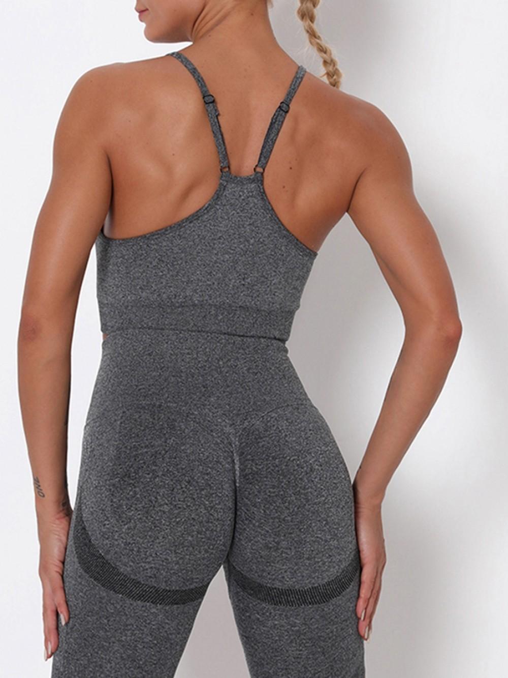 Dark Gray Slender Strap Wide Waistband Sports Online Wholesale