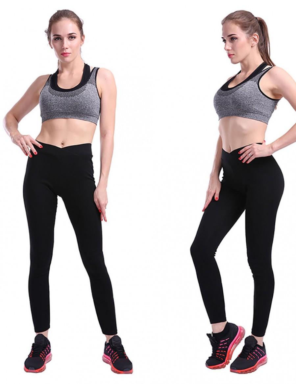 Lovely Black High Waist Ankle Length Yoga Legging Women Fashion Style