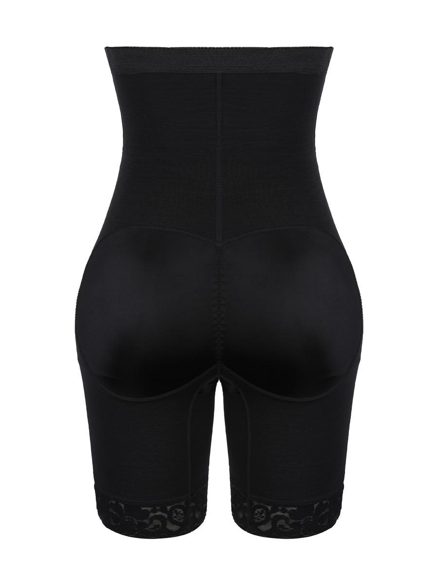 Black 2 Plastic Bones Tummy Control Butt Lifter Highest Compression