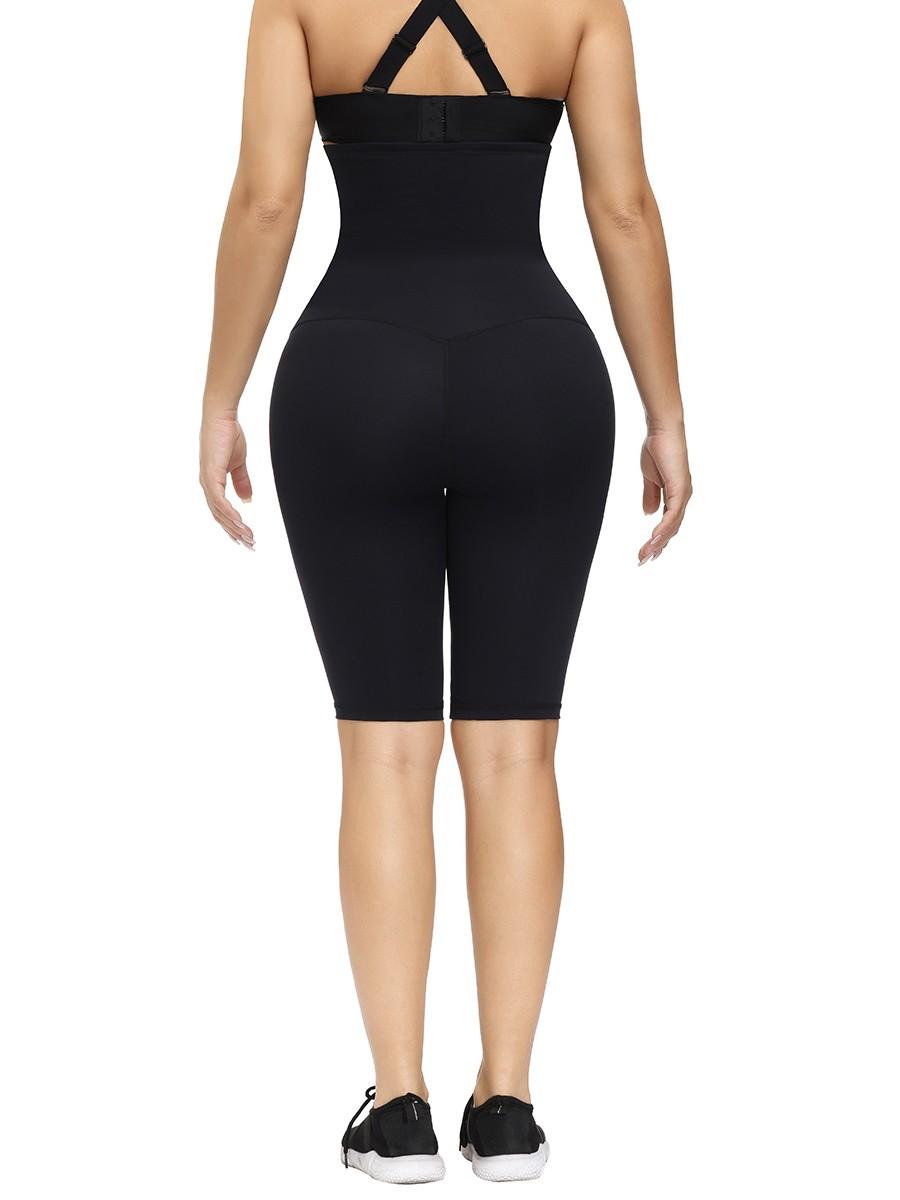 Black Waist Trainer Knee-Length Butt Lifter Slimming Waist