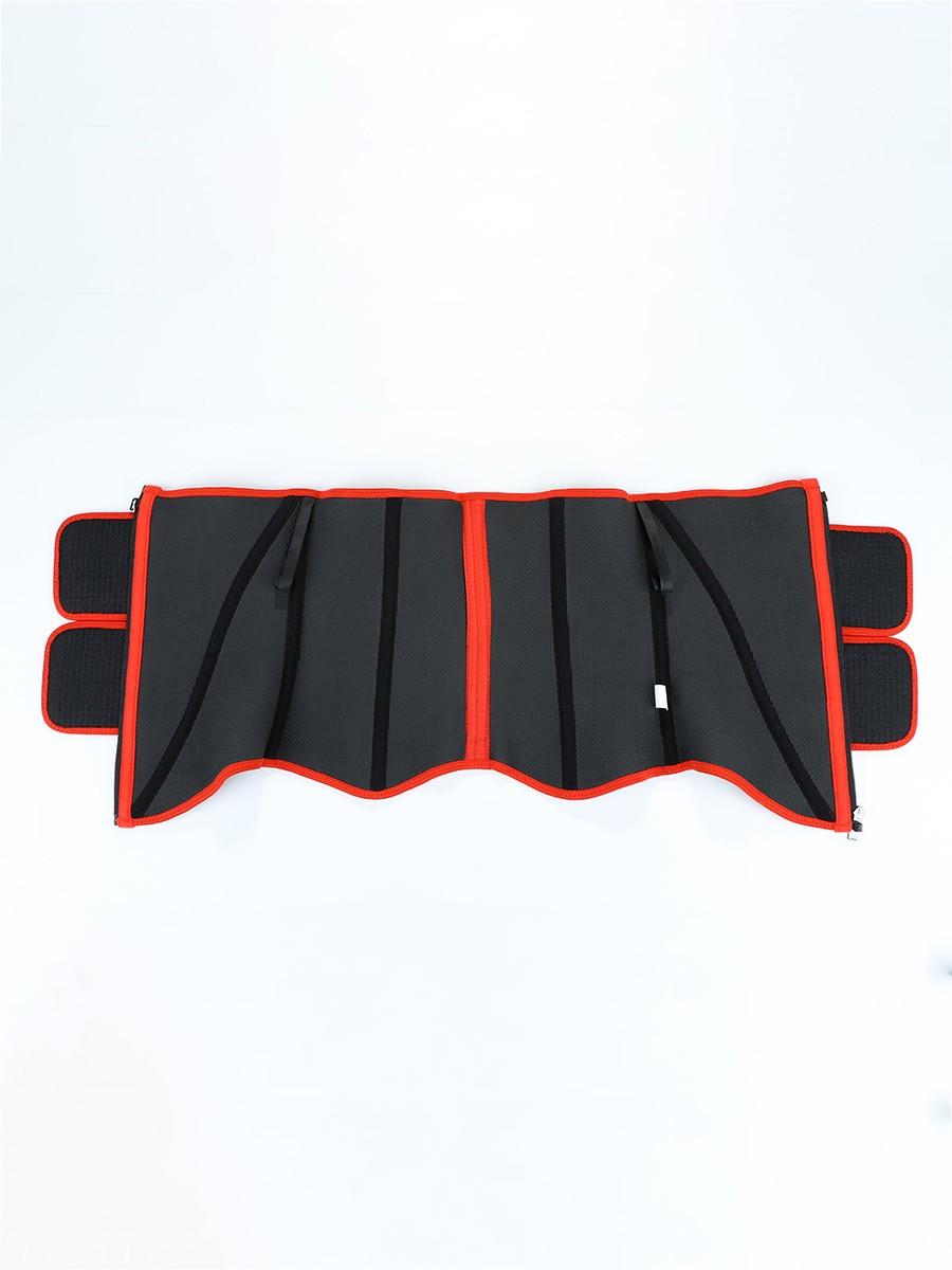 Red 10 Steel Bones Neoprene Sauna Waist Trainer Zipper Custom Logo