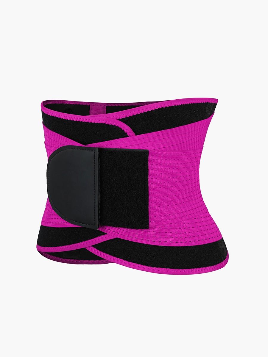 Rose Red Adjustable Neoprene Waist Shaper Belt High-Compression