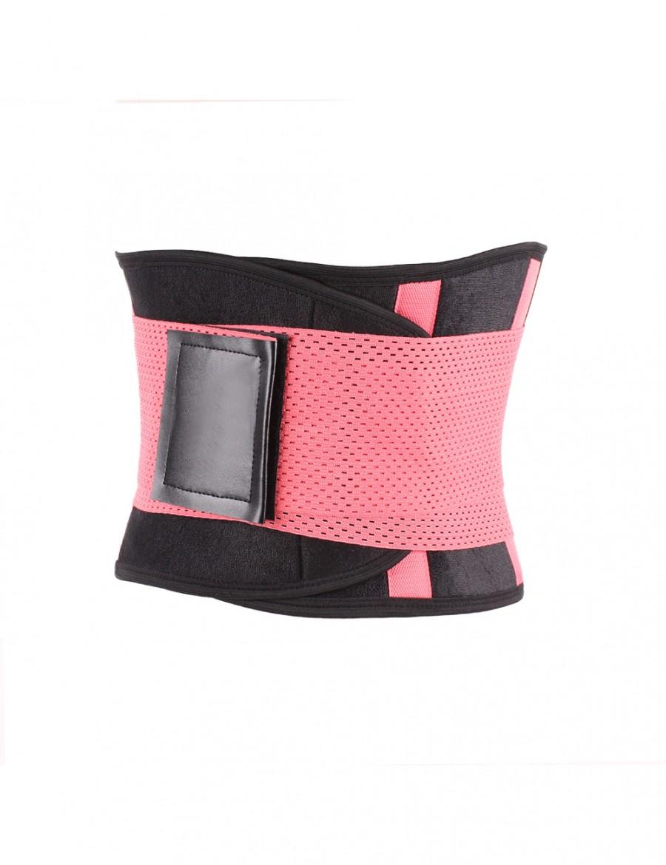 Super-Power Pink Plastic Boned Hidden Curves Waist Cincher