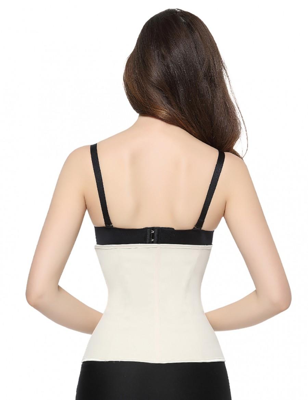 Natural Zipper Hooks Latex Waist Cincher Steel Boned Undergarment
